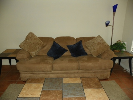 Living Room\/ Queen Sofa Sleeper with Air Bed Mattress