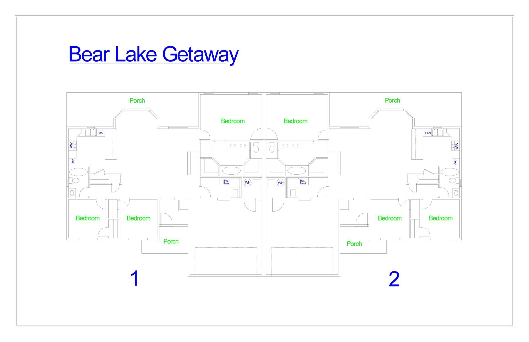 Floor Plan for Bear Lake Getaway #2