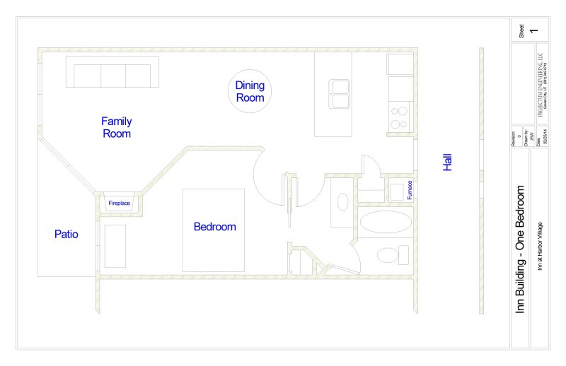 Floor Plan for Inn Building # 111